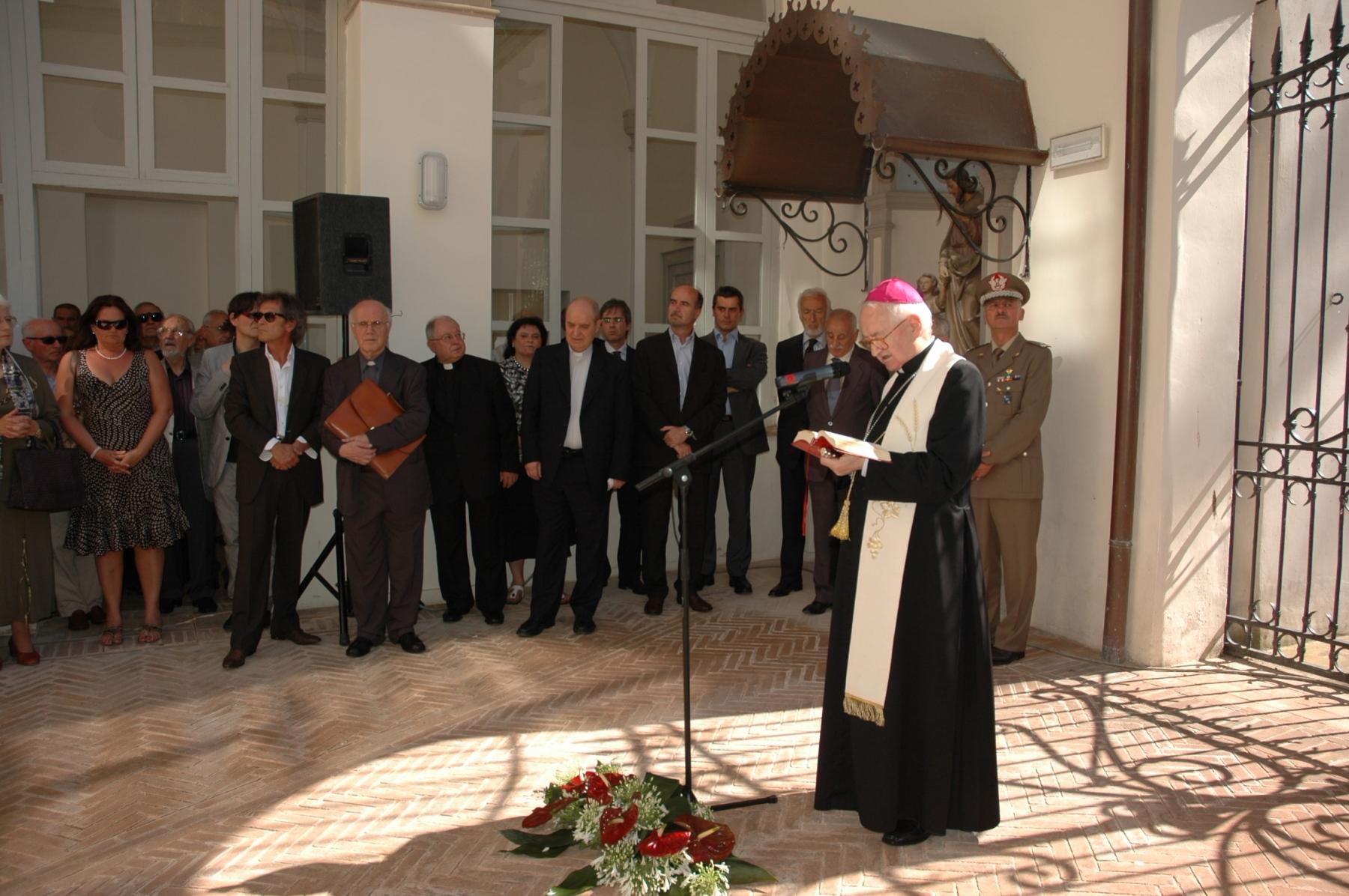 21 giugno 2008. La benedizione del vescovo Arduino Bertoldo