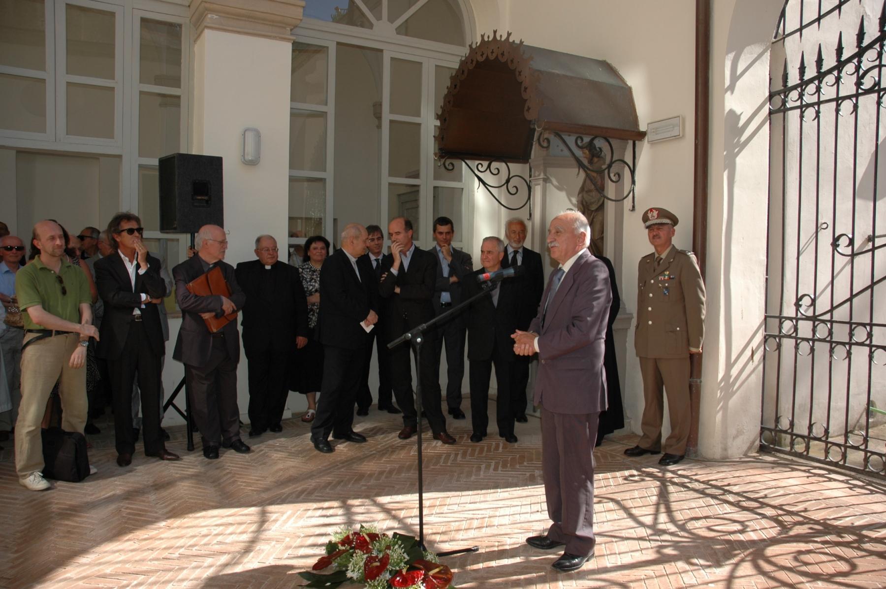 21 giugno 2008. Il sindaco di Foligno Manlio Marini