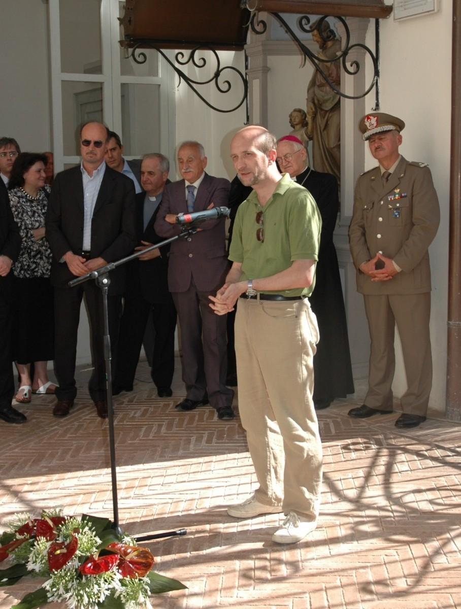 21 giugno 2008. Gabriele De Veris, presidente della sezione umbra dell'Associazione Italiana Biblioteche