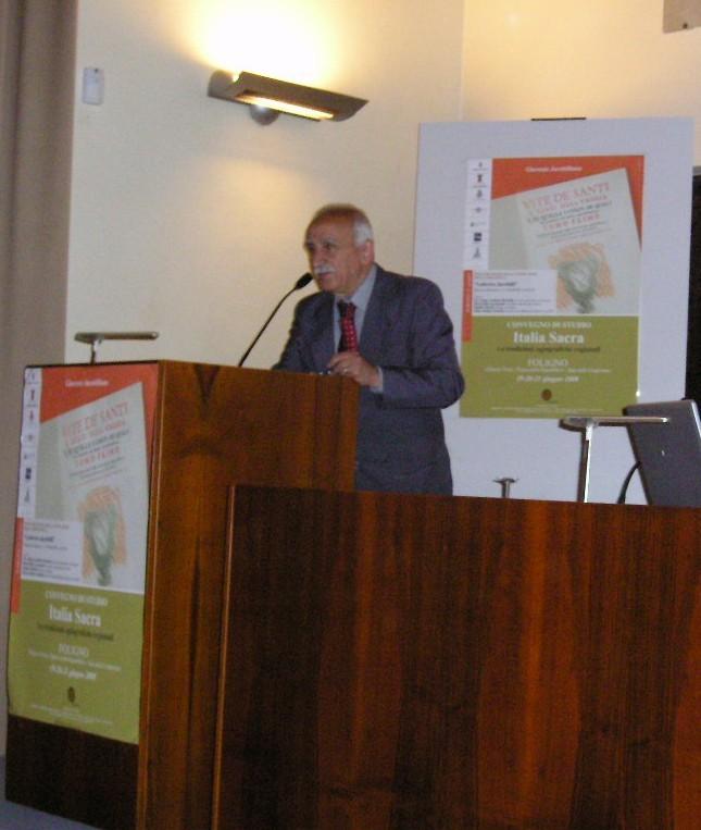 Convegno Italia Sacra - 19-21 giugno 2008 - Il saluto del sindaco di Foligno Manlio Marini