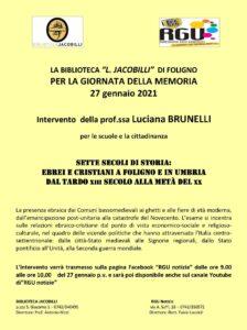 Giornata della Memoria 2021 @ RGU RadioGenteUmbra