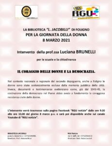 Giornata della Donna 2021 @ RGU RadioGenteUmbra