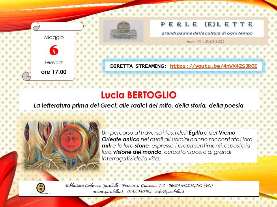 Perle (e)lette: Lucia Bertoglio